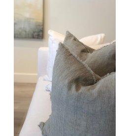 Belgian Linen Pillow - Flint Gray