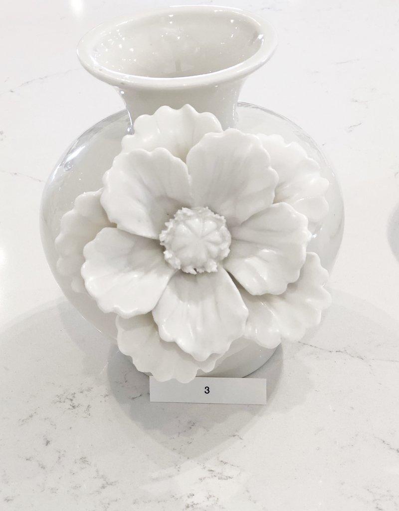 Large White Ceramic Flower Vase