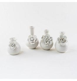 Small White Flower Vase