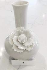 Small White Ceramic Flower Vase