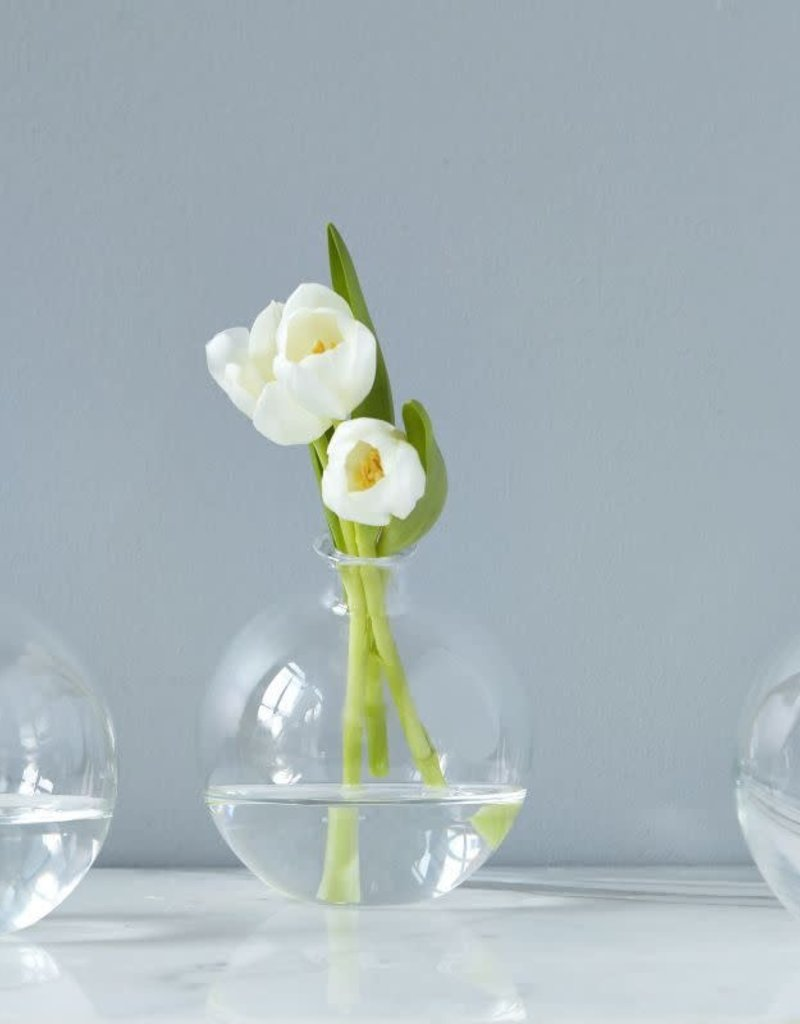 Clear Glass Sphere Vase