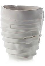 Small White Artsi Vase