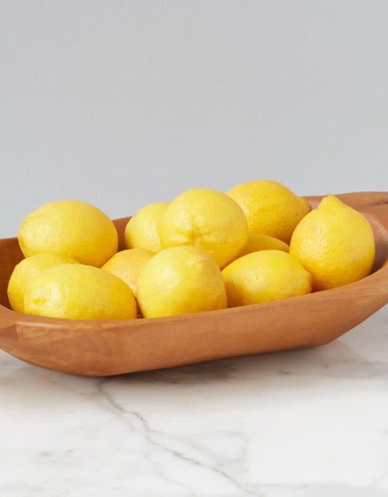 Small Natural Wood Dough Bowl