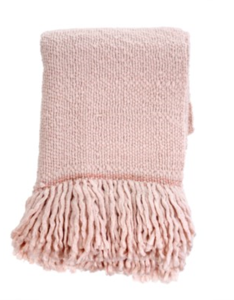 Pale Pink Glimmer Decorative Throw