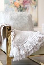 Natural White Glimmer Decorative Throw