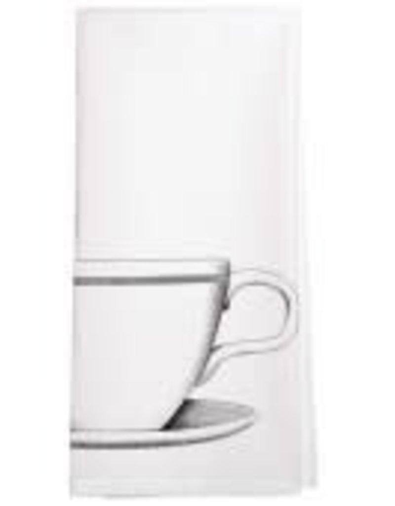 White Coffee Mug Tea Towel