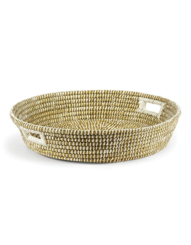 Riley Woven Low Bowl with Handles