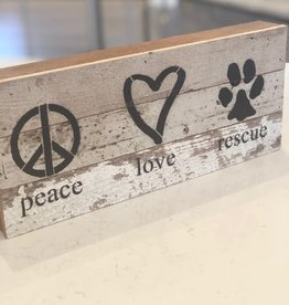 Peace, Love, Rescue Sign