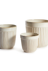 Eila Cream Colored Garden Pots