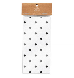 Basket Liners-Blk Polka Dot