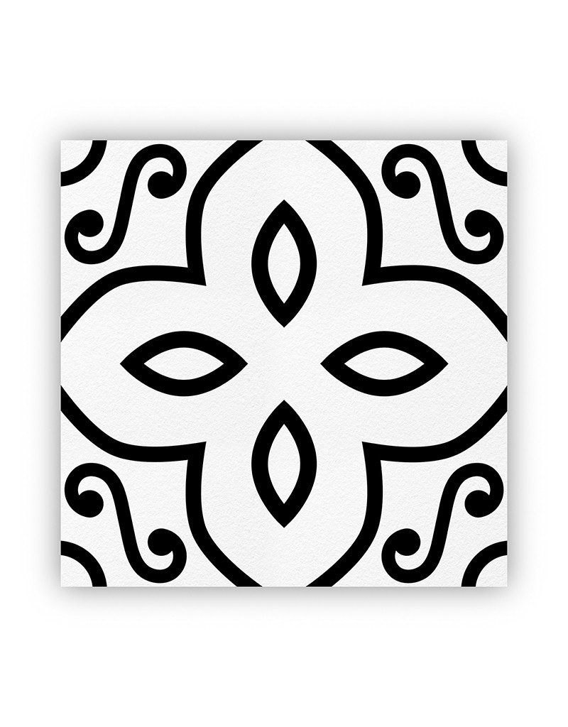 Black and White Arabesque Cheese Paper