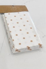 Tan Polka Dot Basket Liners