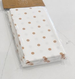 Basket Liners-Tan Polka Dot
