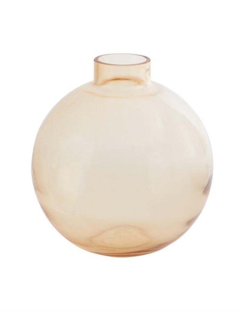 Large  Orange Benji Glass Vase