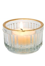 Golden Rim Tealight Candle Holder