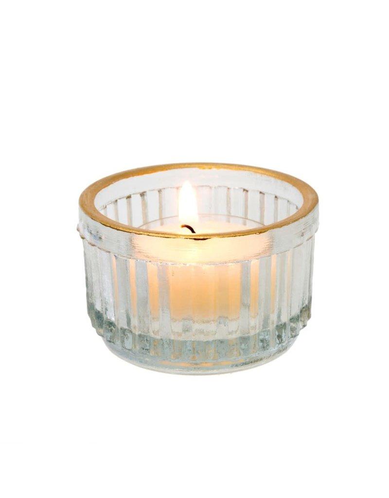 Golden Rim Tealight Candle Holder