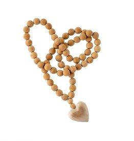 Wood Heart Prayer Beads - Large