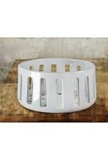 White Slatted Ceramic Bowl  Large 251