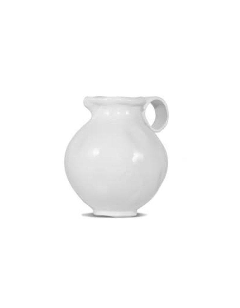White Ceramic Pitcher 924