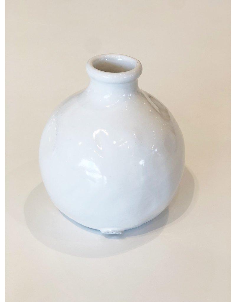 White Handmade Ceramic 950 Vase