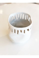 White Ceramic Tall Bowl 982