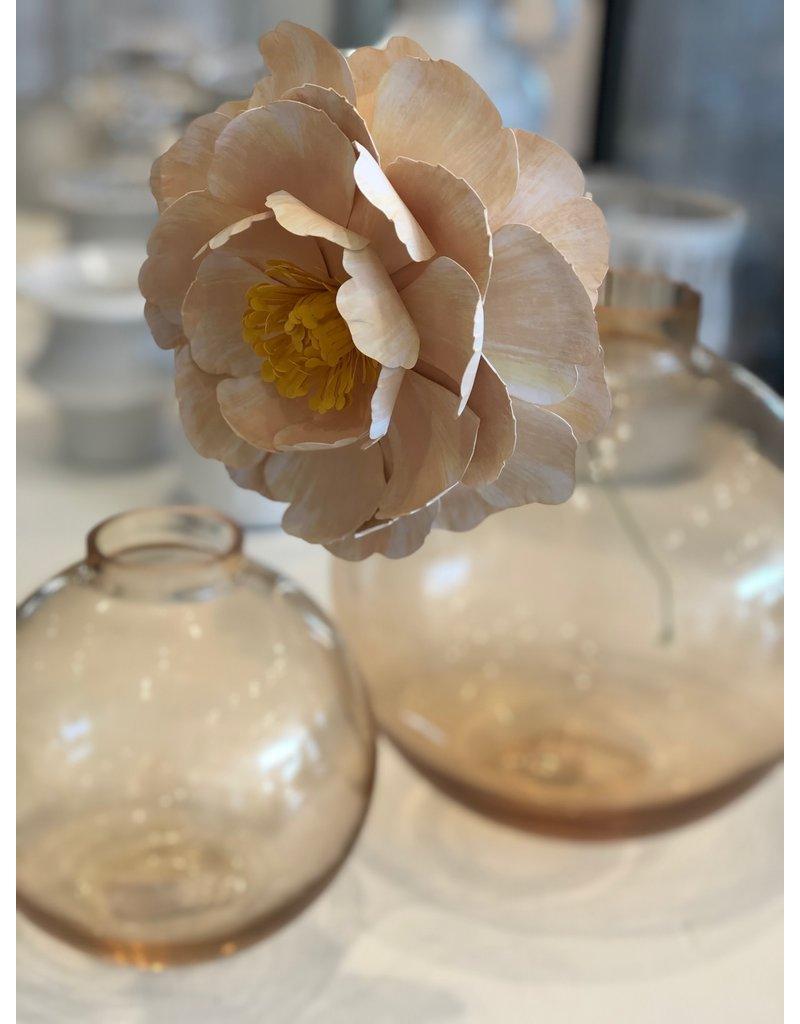 Small Orange Benji Glass Vase