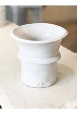 White Ceramic Handmade 333 Vase