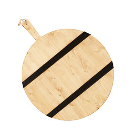 Black Striped Mod Charcuterie Board -Large