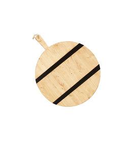 Black Striped Mod Charcuterie Board -Large