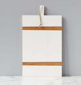White Rectangle Mod Charcuterie Board - Large