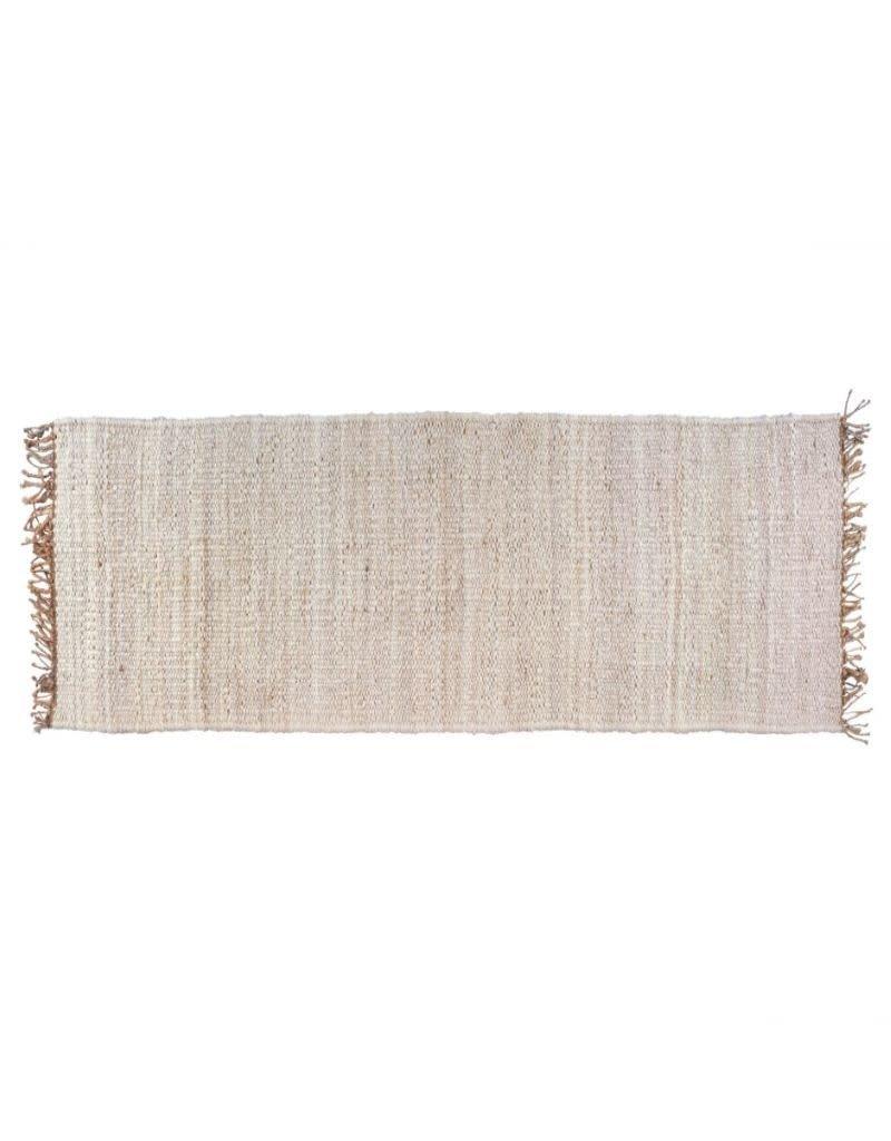 Serengeti 2.5' x 8' Jute Carpet Runner- Bleach