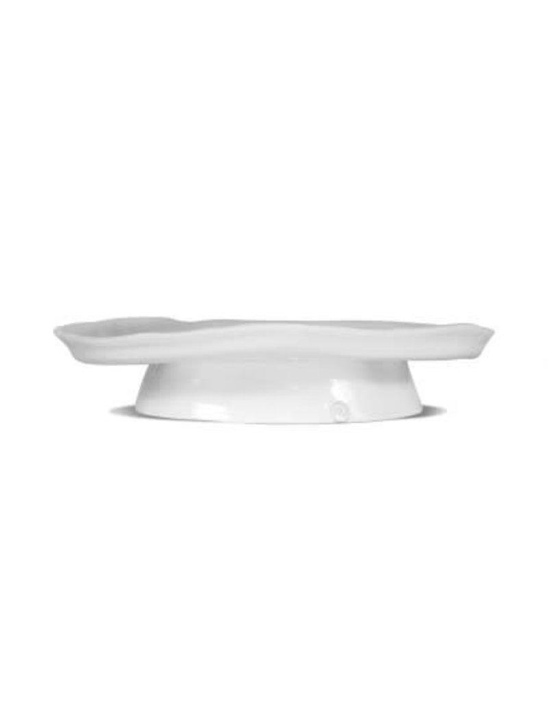 Large White Ceramic Cake Stand 929