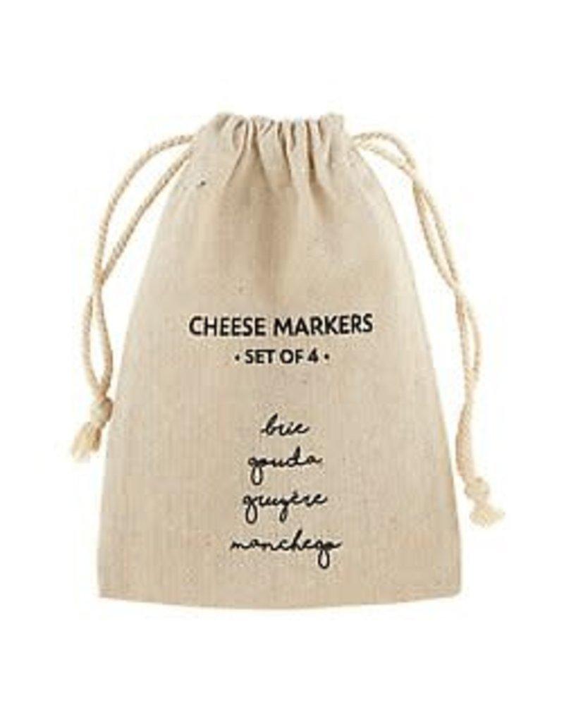 Black-White Ceramic Cheese Markers