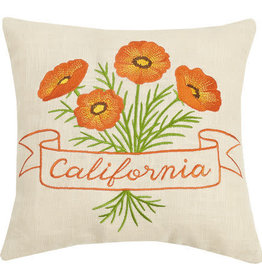 California Poppy Pillow