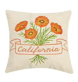 California Poppy Pillow