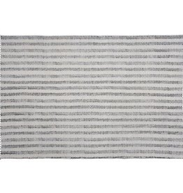 Block Print Cotton Rug - Sawtooth Stripe