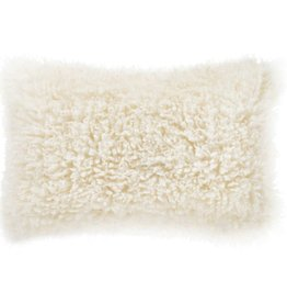 Valerie Fur Pillow - Ivory