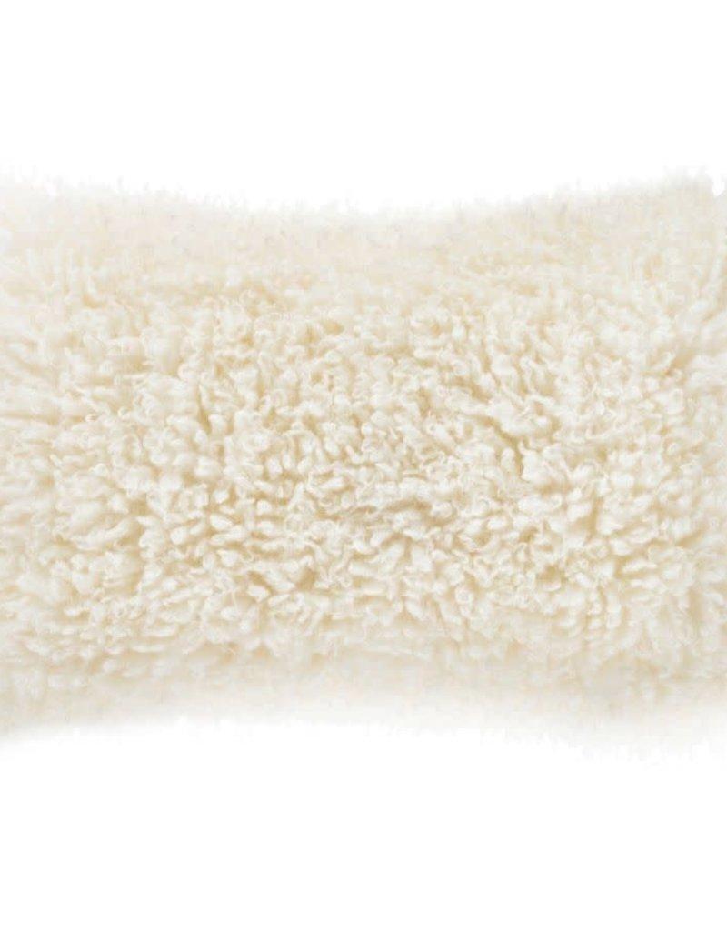 Ivory Fur Valerie Throw Pillow