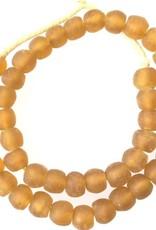 Ghana Recycled Glass Light Topaz African Beads