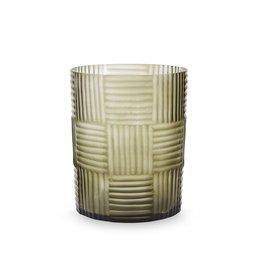 Hurricane Vase - Clear Steel Gray