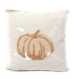 Grand Pumpkin Harvest Pillow- Natural