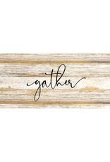 Gather Wood Board Art - Black Print