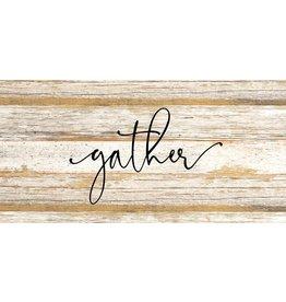 Gather Word Art - Black Print