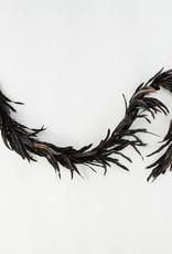 Black Brown Fall Feather Boa -6'