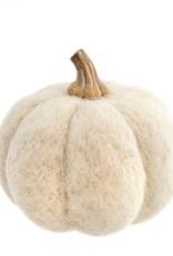 Felt Pumpkin Large-White