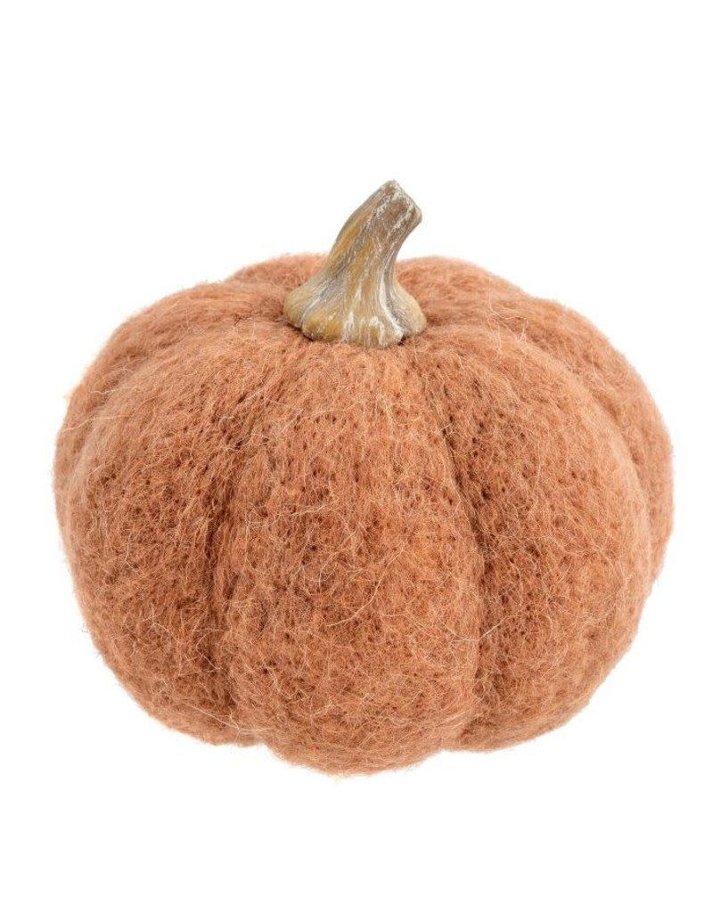 Felt Pumpkin Large-Terracotta