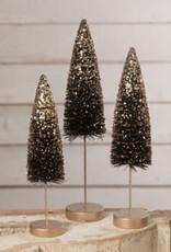 Black Trees w/ Gold Glitter - Set 3