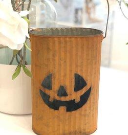 Metal Pumpkin Bucket- Medium