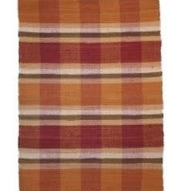 Pumpkin Rag Rug - Plaid