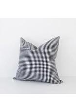 Black Gingham Check Throw Pillow